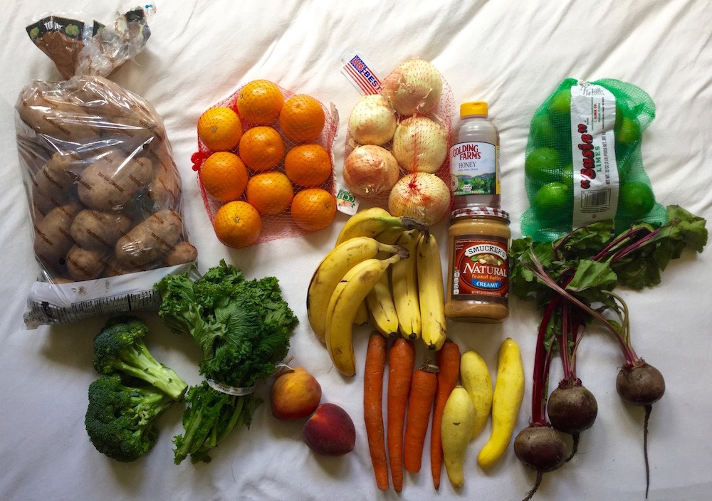 Healthy Eating on $4 a Day. Kitchen Supplies- WalMart food