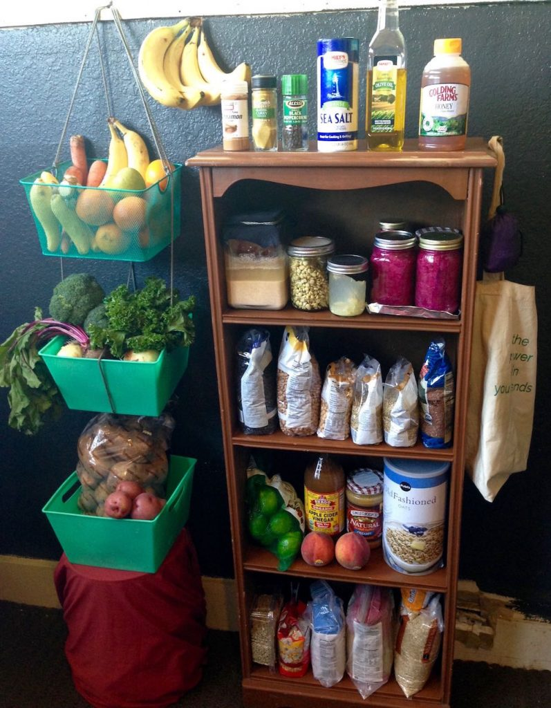 Healthy Eating on $4 a Day. Kitchen Supplies-food shelf